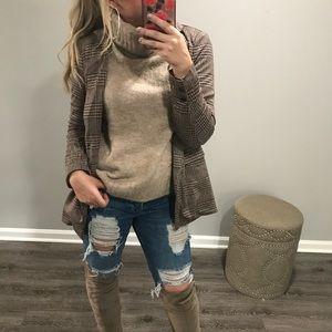 🆕 CLUELESS Brown & Tan Coat
